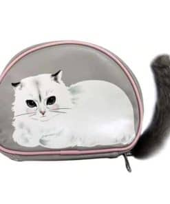 Pretty Kitty Makeup Brush Organizer - Front
